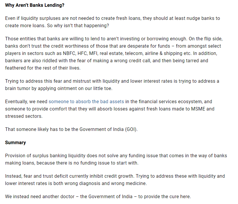 Why are not banks lending and who needs to step in
