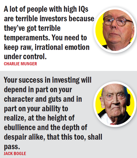 Success in investing is proportional to temperament