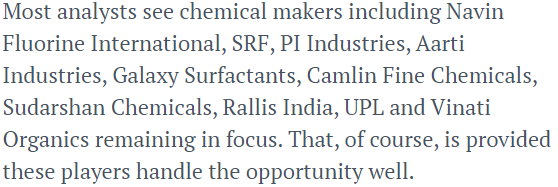 Analysts are betting on Indian chemical sector in next decade