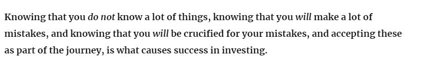 Success in investing
