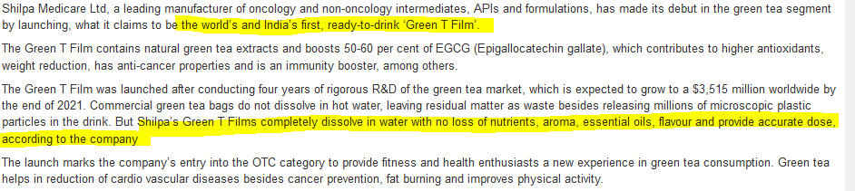 Green T doses dissolves in water with no loss of nutrients as claimed by shilpa medicare