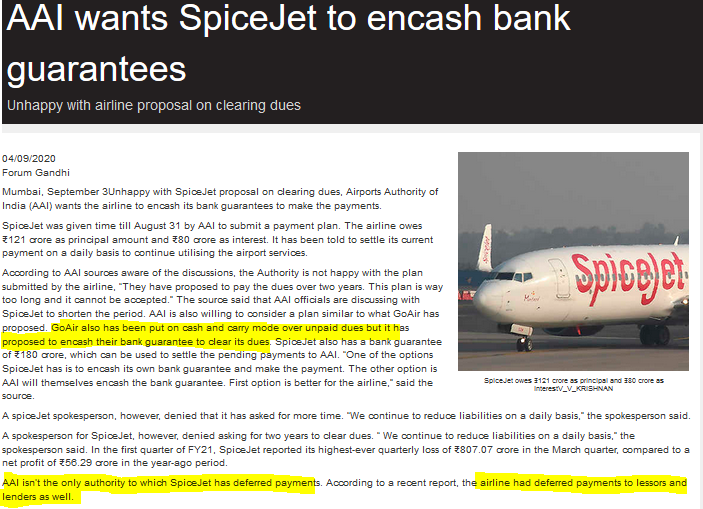 IT'S SPICEJET TURN NOW for encashing bank guarantee