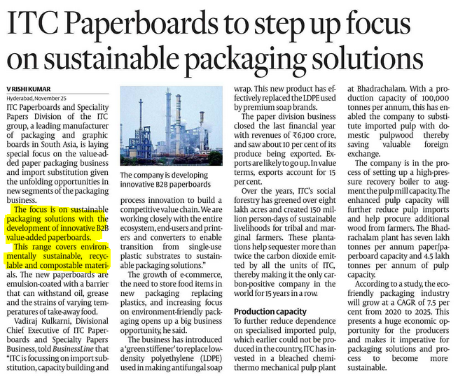 ITC PAPERBOARDS ECO FRIENDLY PACKAGING SOLUTIONS