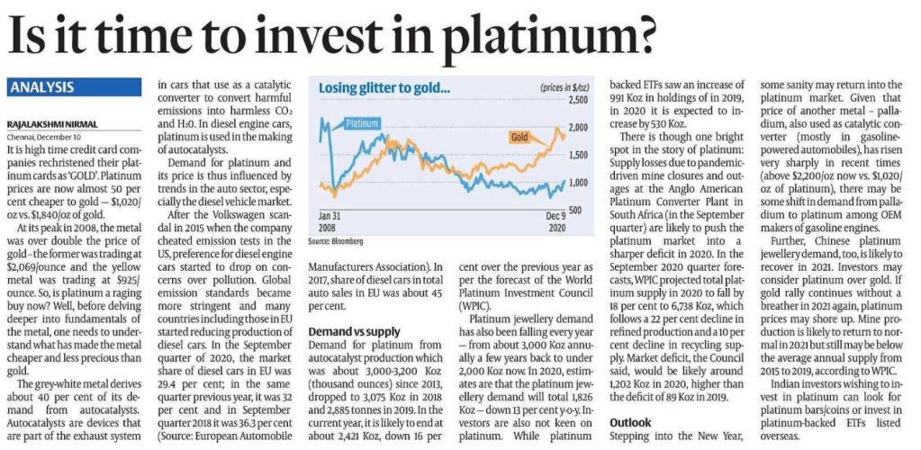is it a good time to invest in platinum?