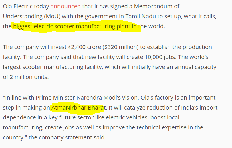 Electric mobility , biggest electric scooter manufacturing plant in tamil nadu, Bhavish agarwal