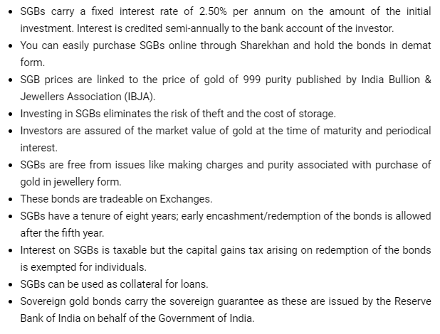 SOVEREIGN GOLD BONDS : SOME FACTS AND SERIES IX DETAILS
