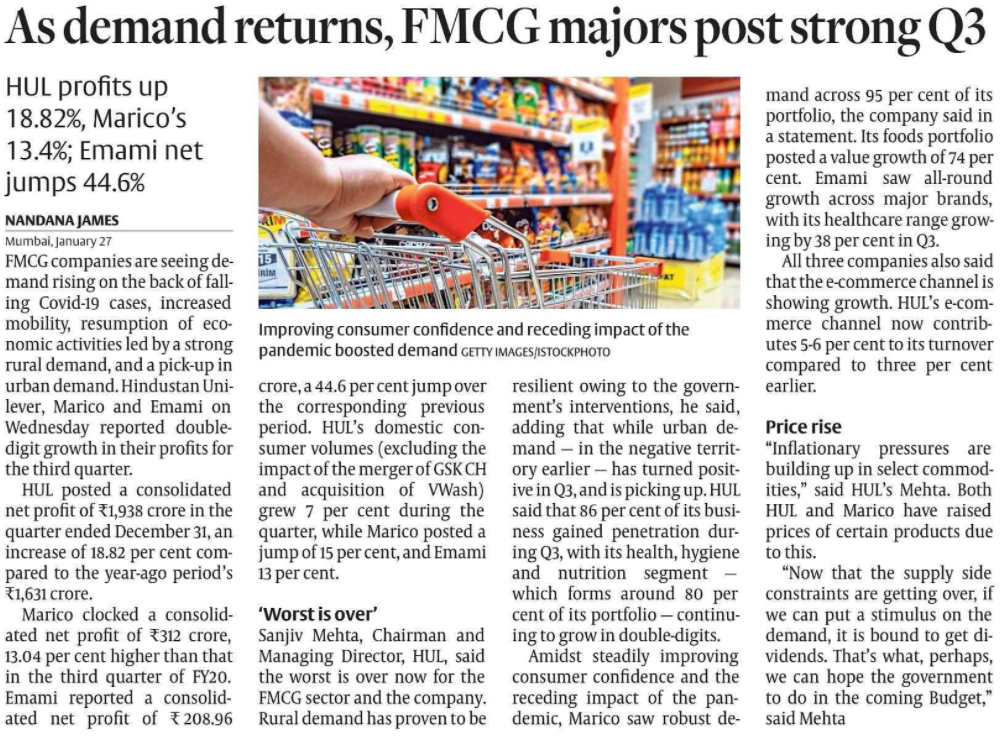 Improving Consumer confidence in FMCG