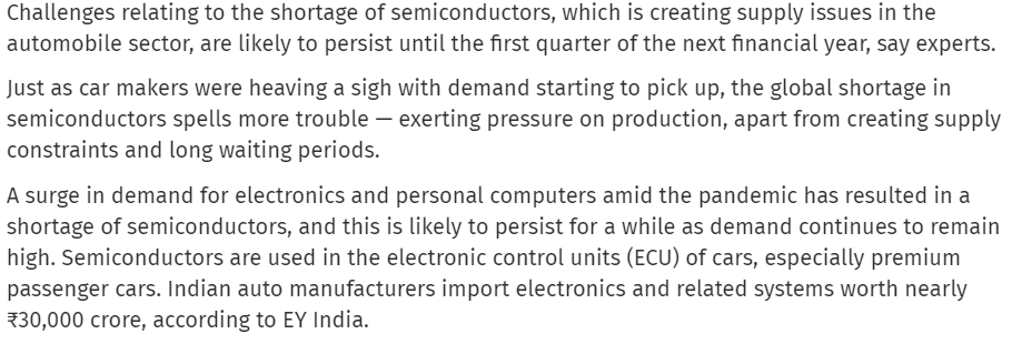 CHIPS ARE STILL DOWN!! Semiconductor supply shortage ECU of cars