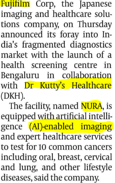 AI ENABLED IMAGING AND HEALTHCARE SERVICES : NURA