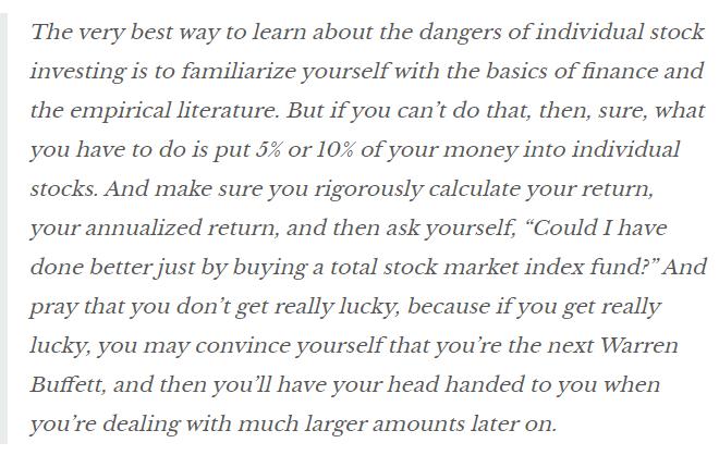 HIDDEN DANGERS OF BUYING INDIVIDUAL STOCKS