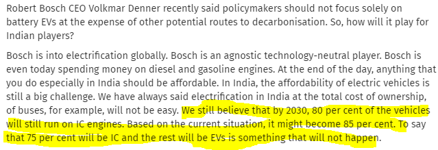 EV CONTRA VIEW : 2030 : IT WILL NOT HAPPEN